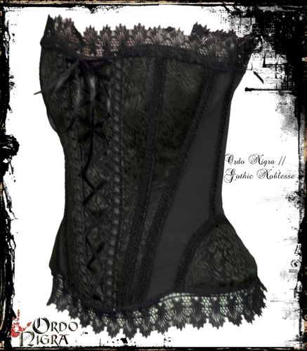 "Gothic Satin Vollbrust Corsage ""Baroque Queen"""