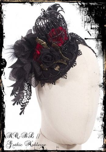 "Gothic Fascinator ""Caged Rose"""